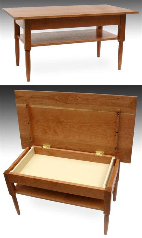 custom shaker furniture hinge top coffee table