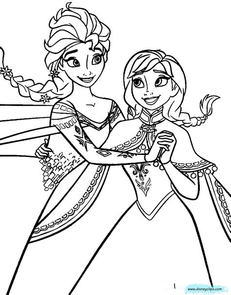 coloring page of elsa and anna frozen coloring pages disney coloring book