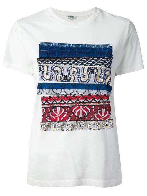 eye pattern shirt kenzo eye pattern tshirt in white lyst