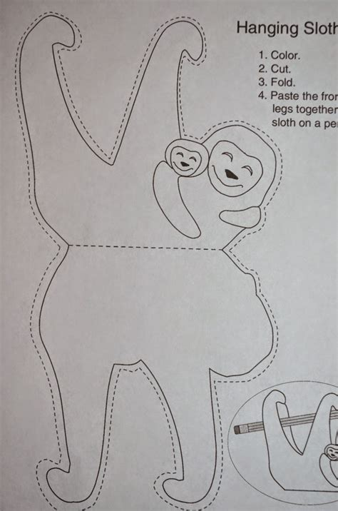 craft templates sloth template www pixshark images galleries with
