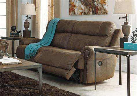 austere brown power reclining sofa lexington overstock warehouse