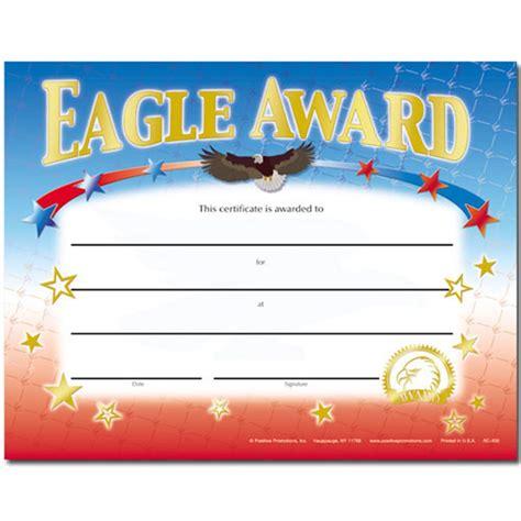 eagle award gold foil stamped certificates positive promotions