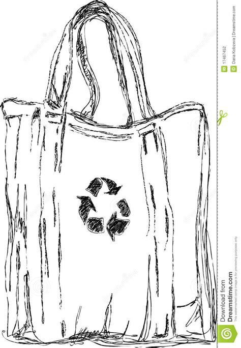 Handmade Sketches - handmade sketch of eco bag stock photography image 17467452