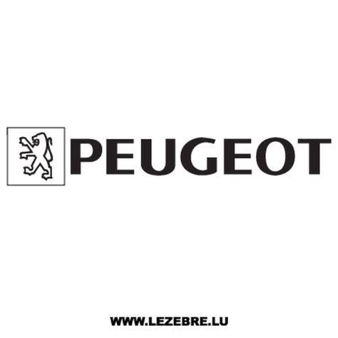 logo peugeot png peugeot old logo decal