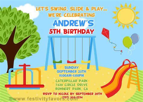 Playground  Ee  Birthday Ee    Ee  Party Ee   Invitations Kids  Ee  Birthday Ee