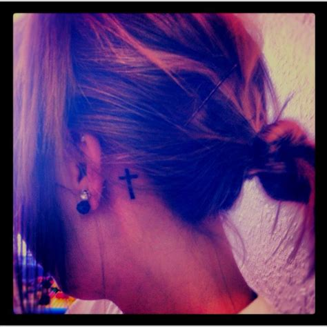 tattoo behind ear easy to hide i want this cross tattoo behind my ear i like that you