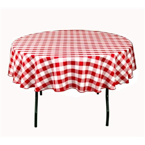 and white checkered plastic tablecloths