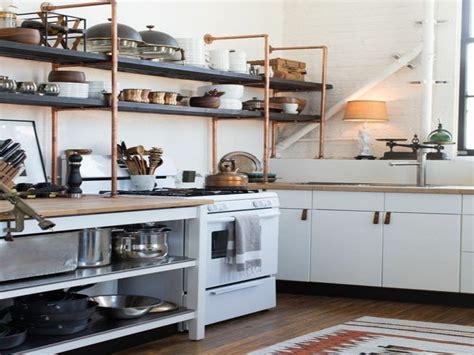 pipe shelves kitchen rustic kitchen shelving ideas copper pipe closet shelving