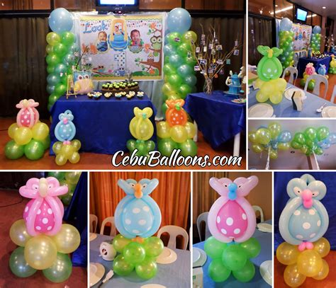 themes for decoration whimsical owl cebu balloons and supplies
