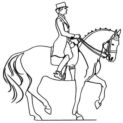 coloring pages horse and rider horse and rider coloring page