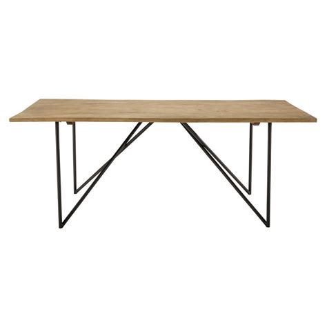 Mango Wood Table L by Solid Mango Wood Dining Table W 200cm Arty Maisons Du Monde