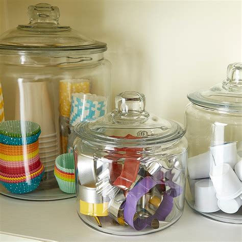 food canisters kitchen 2018 set of anchor hocking glass canisters the container store