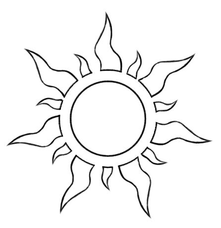 template of the sun sun moon on template templates and