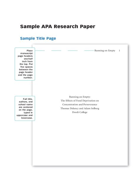 apa style cover page for research paper how to write term paper cover