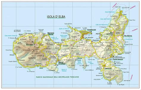 casa co madonna di ciglio the map of elba island detailed elba map for safe traveling
