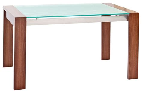 lakeshore rich wood glass dining table modern dining