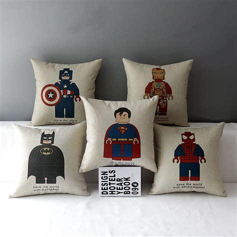 Car Home Decor 18 Quot Square Steel Superman Batman Lego Emoji Cotton Linen Cushion Sofa Decorative Throw