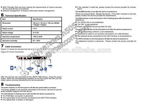 Modem Zte Gpon Ont F660 asli baru zte onu gpon zte zxa10 f660 untuk ftth gpon