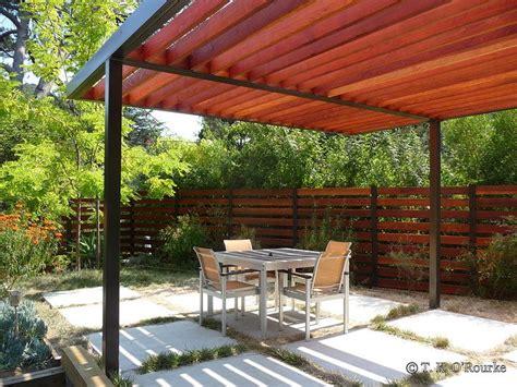 Steel and Wood Pergola   casas   Pinterest