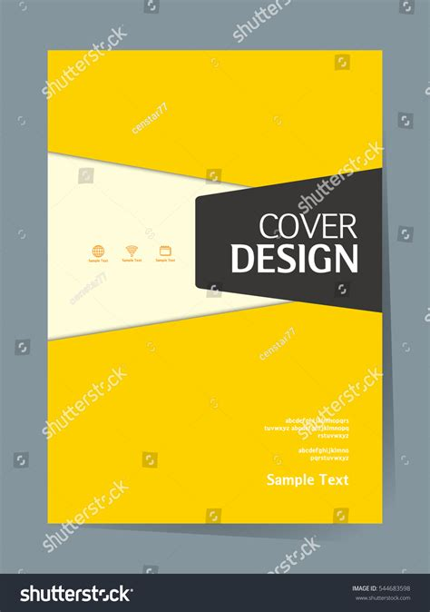 simple book cover template book cover design vector template a4 스톡 벡터 544683598