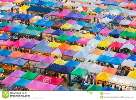market colors weekend market roof top royalty free stock image