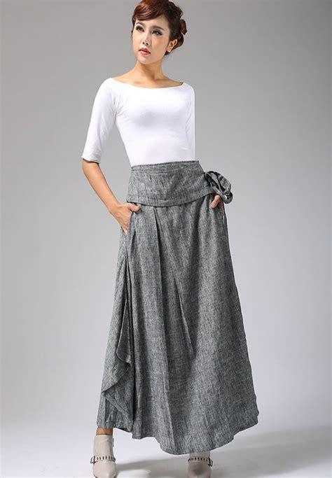 linen skirt dressed up