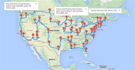 road trip map of united states of america the ultimate motorcycle road trip across the us the usa