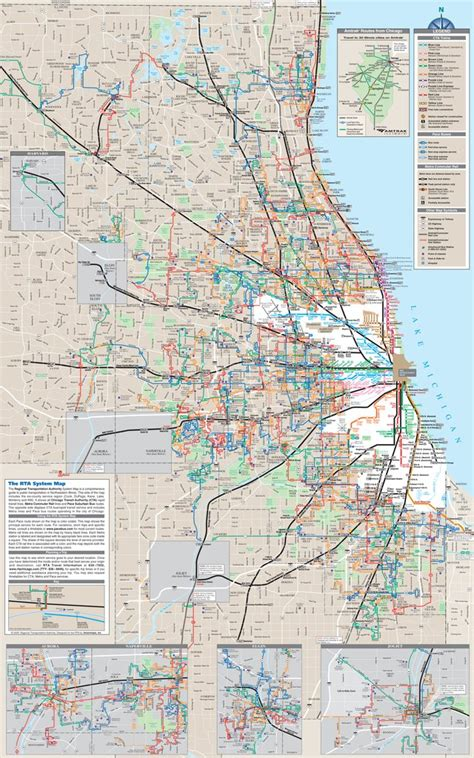 chicago metra map cta metra and pace maplets