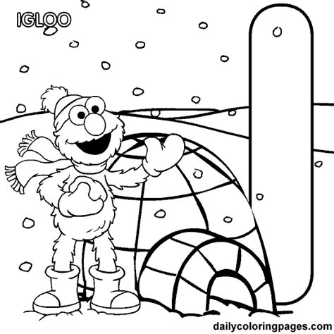 elmo number coloring pages coloring activity pages quot i is for igloo quot elmo coloring page