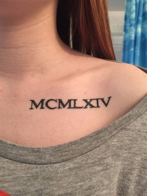 roman numbers tattoo collection of 25 numerals