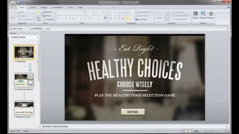 Articulate Storyline Tutorial Importing The Powerpoint Template Youtube Articulate Storyline Templates