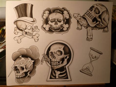 bishop tattoo attractive three hourglass design