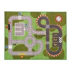 play car mat rug race track from ikea new