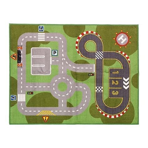 play car mat rug race track from new