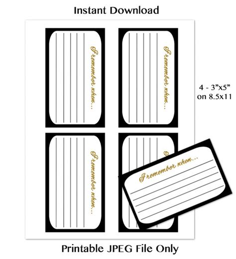 sd card label template i remember when memory card milestone birthday invitation