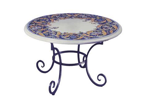 ladari ferro battuto e ceramica tavoli in ceramica dipinti a mano e ferro battuto la chimera