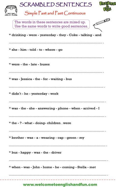 Scrambled Sentences Worksheets scrambled sentences worksheets worksheets releaseboard