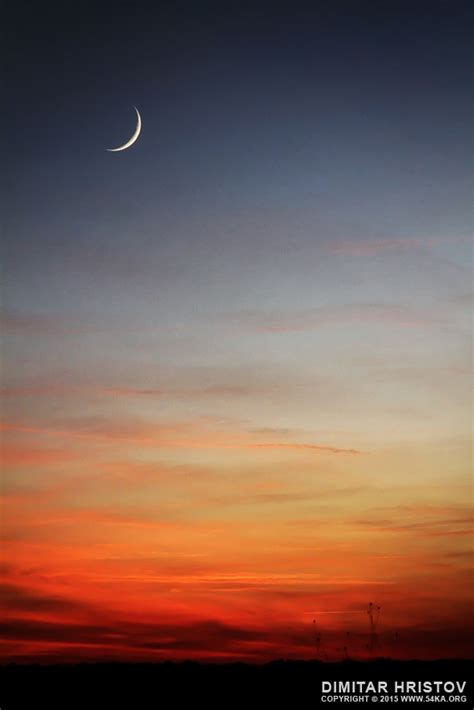 moon sunset ka photo blog