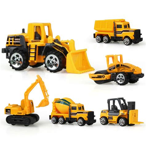 Mainan Mobil Cars Diecast mainan mobil mobilan truck konstruksi diecast anak 6pcs