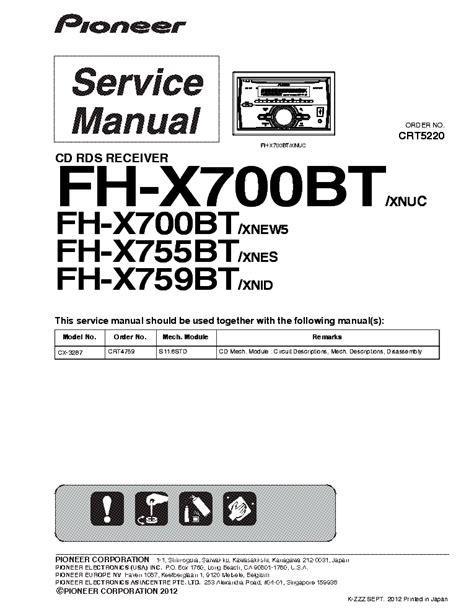 pioneer mixtrax fh x700bt wiring diagram mov637w