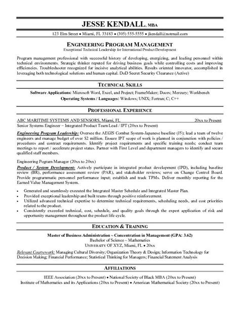 Resume Program by Program Manager Resume Program Manager Resume We Provide