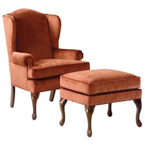 wing chair ottoman fairfield chairs wing chair ottoman with cabriole legs
