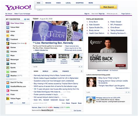 Home Page by New Yahoo Homepage Search Marketing Communications
