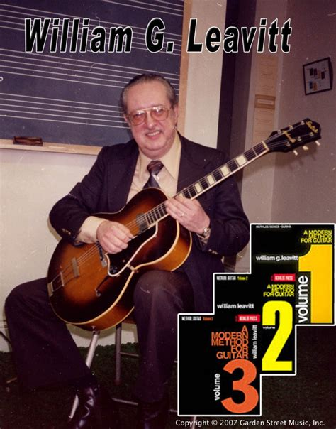 William Leavitt william g leavitt great guitar mentor and
