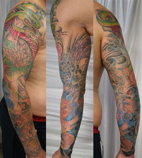 tattoo forearm sleeve japanese arm sleeve ready by 2face on deviantart