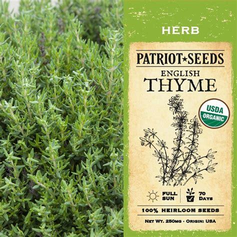 Thyme Herbs organic herb thyme 250mg heirloom non gmo