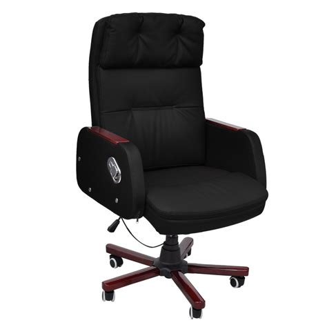 black leather office chair recliner black black adjustable artificial leather office chair