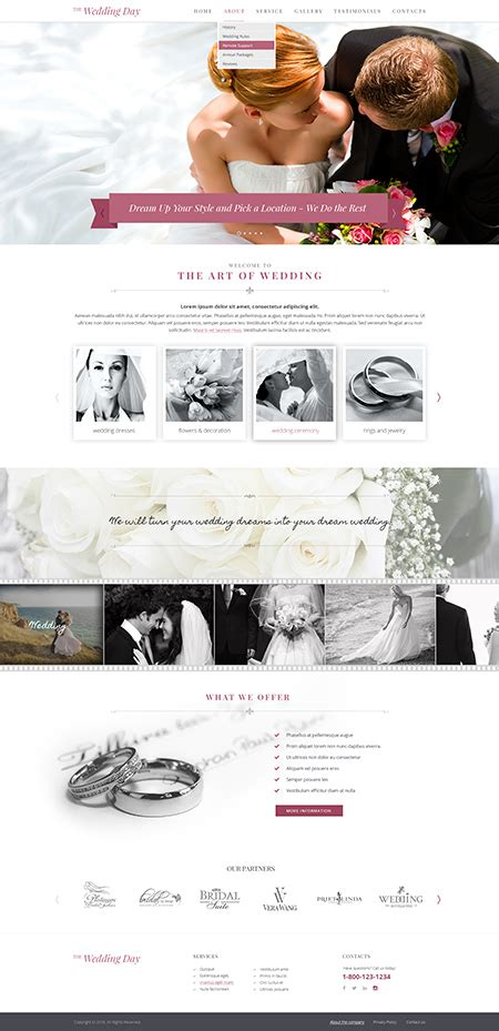 bootstrap templates for wedding wedding day bootstrap template id 300111911