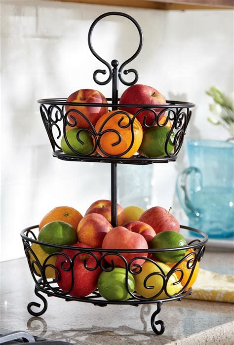 Tiered Fruit Stand Kitchen by Tiered Fruit Stand Various Types Of Stands Homesfeed