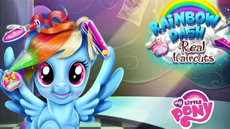 games haircut my little pony my little pony rainbow dash real haircuts game for kids